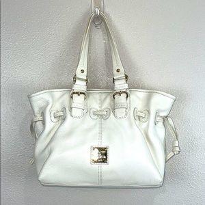 Dooney & Bourke white pebbled leather handbag